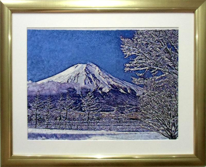 世界遺産 冬の富士山 4分割
